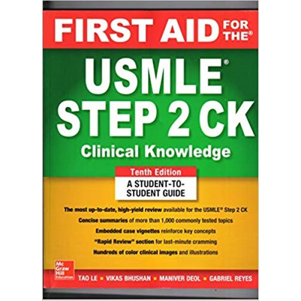 First  Aid for the  USMLE Step 2 CK ,10th Edition