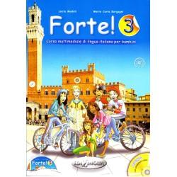 Forte!: Libro dello studente ed esercizi 3 + CD audio + CD-ROM (A2)
