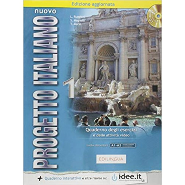 Nuovo Progetto Italiano :  Quaderno degli esercizi 1 + CD-audio ( A1-A2)
