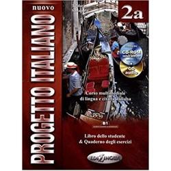 Nuovo Progetto Italiano 2a : Libro studente + quaderno degli esercizi +CD-ROM+ CD-audio (B1)