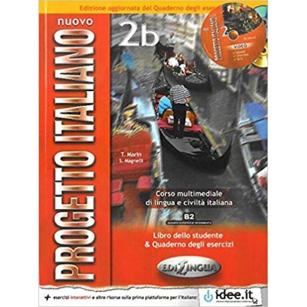 Nuovo Progetto Italiano 2b : Libro studente + quaderno degli esercizi +CD-ROM+ CD-audio (B2)