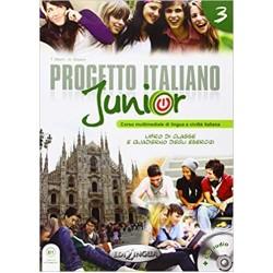 Progetto italiano junior 3: Libro + Quaderno + CD audio + DVD (B1)