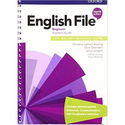 English File Beginner Teacher's Guide with Teacher's Resource Center 4th Edition