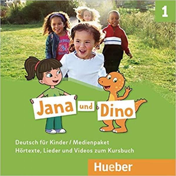 Jana und Dino 1 Medienpaket - 2 Audio-CDs zum Kursbuch