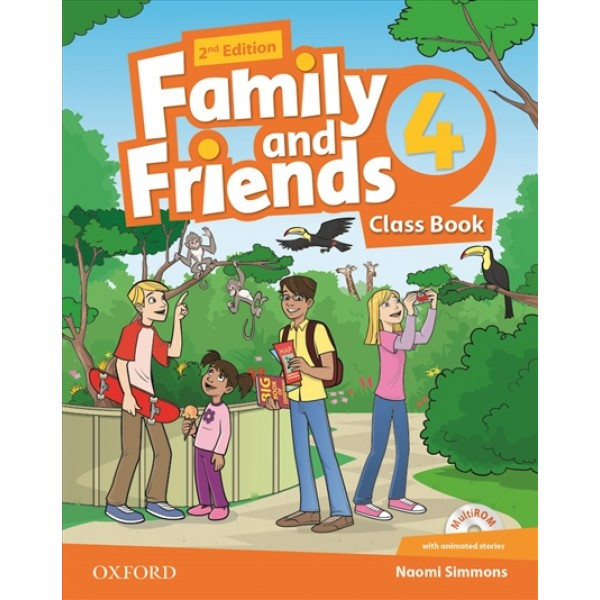 Family and Friends 4 Class Book and Multi-Rom