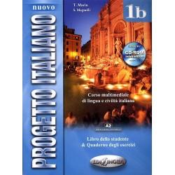 Nuovo Progetto Italiano 1b : Libro studente + quaderno degli esercizi +CD-ROM+ CD-audio (A2)